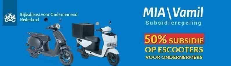bezorg e-scooter subsidies MIA \ Vamil