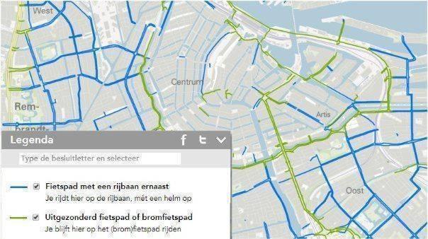 amsterdam-snorfietsers-rijbaan-fietspaden