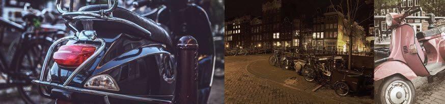 vespa scooter amsterdam