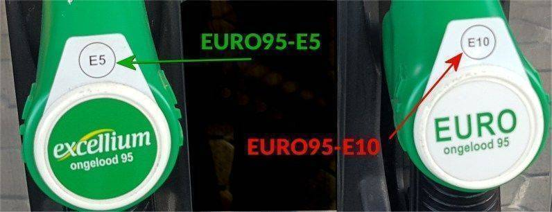 verschil-euro95-e5-en-euro95-e10