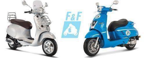 retro-scooters-vespa-peugeot