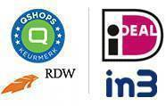 logo`s qshops, rdw, Ideal, in3